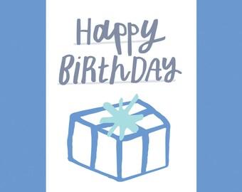 Happy Birthday, A6 Card