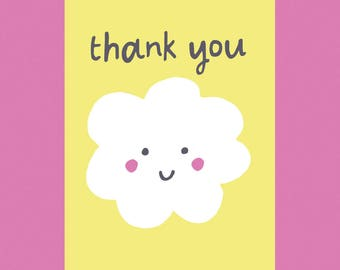 Thank You, Happy Cloud, A6 Card