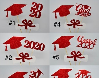 Graduation Table D\u00e9cor Wisconsin Badgers Graduation Centerpiece Sticks Wisconsin graduation Graduation Centerpiece Custom school logo
