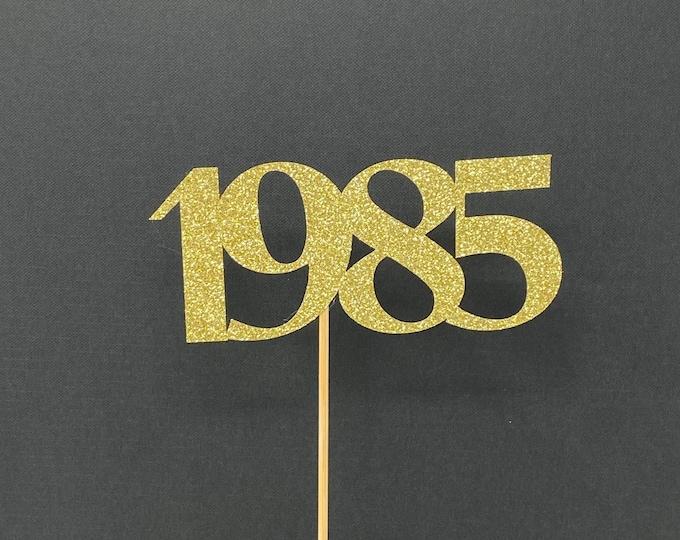 Class of 1985 Centerpiece Decoration, 35th Class Reunion Centerpiece Stick, Class of '85 Memorabilia Table Decoration, 35th Reunion