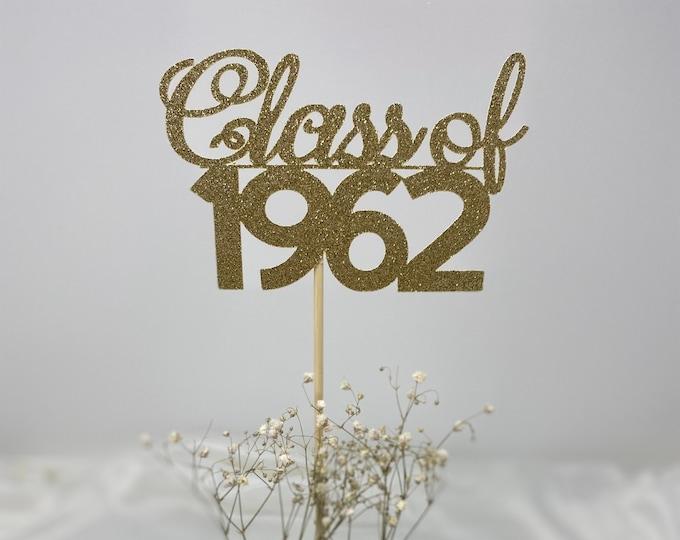 Class Reunion 1962, Class of 1962, Class Reunion Centerpiece , Class Reunion Decoration, Class Anniversary, Prom, School, University