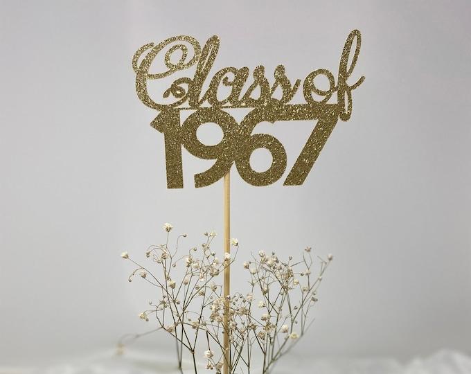 Class Reunion 1967, Class of 1967, Class Reunion Centerpiece , Class Reunion Decoration, Class Anniversary, Prom, School, University