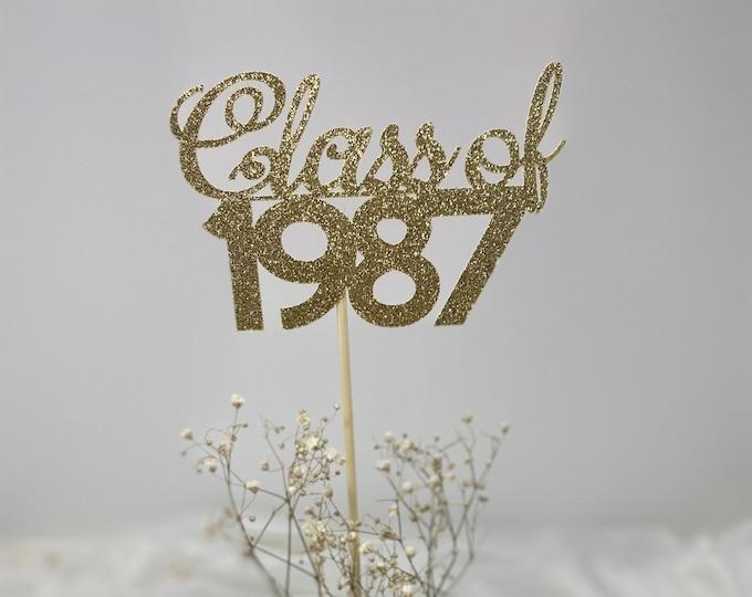Class Reunion 1987, Class of 1987, 35th Class Reunion Centerpiece , Class Reunion Decoration, Class Anniversary, Prom, School, University