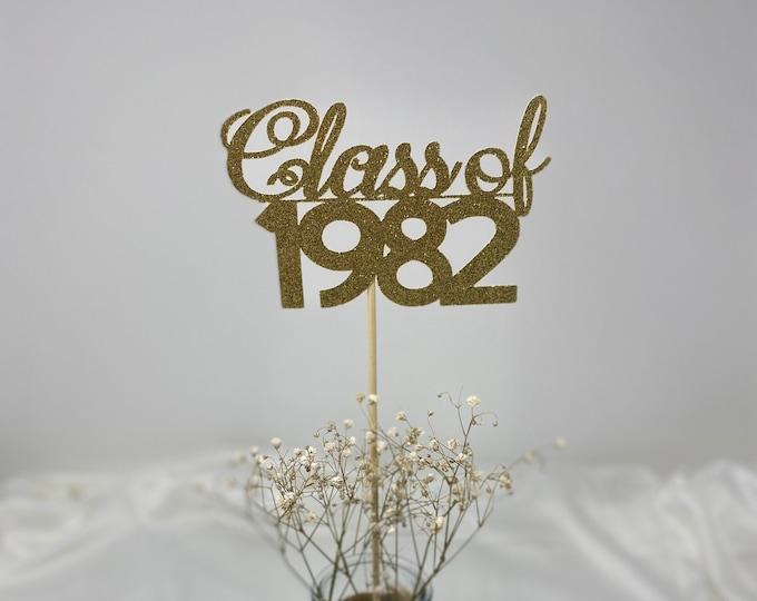 Class Reunion 1982, Class of 1982, Class Reunion Centerpiece , Class Reunion Decoration, Class Anniversary, Prom, School, University