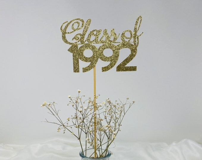 Class Reunion 1992, Class of 1992, Class Reunion Centerpiece , Class Reunion Decoration, 30th Anniversary, Prom, School, University