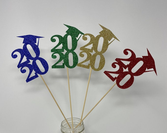 Graduation party decorations 2021, Graduation Centerpiece Picks, class of 2021, Graduation Decoration, prom 2021, Graduation table decor