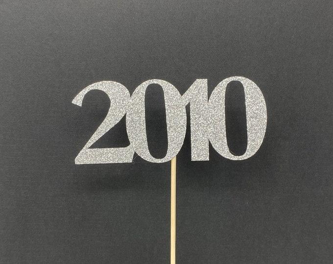 Class of 2010 Centerpiece Decoration, 10th Class Reunion Centerpiece Stick, Class of '10 Memorabilia Table Decoration, 10th Reunion