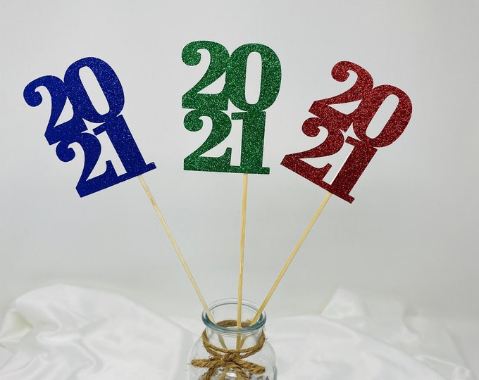 Graduation decorations 2021, Graduation Centerpiece Sticks,  class of 2021, Graduation Party Decorations, Graduation Party Decor 10 ct- 2021