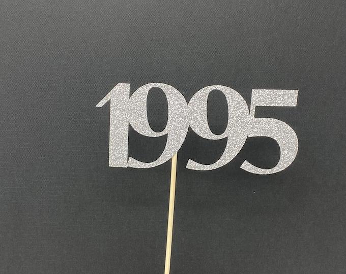 Class of 1995 Centerpiece Decoration, 25th Class Reunion Centerpiece Stick, Class of '95 Memorabilia Table Decoration, 25th Reunion