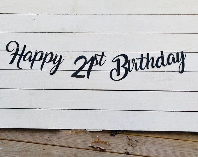 21st birthday banner, 21 years loved banner, Glitter banner, 21st birthday decorations, cursive banner, twenty one