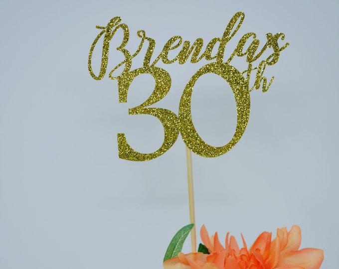 30th Birthday Decorations, 30th Birthday Centerpiece Sticks,Personalized 30th Birthday, Age Centerpiece, Anniversary stick