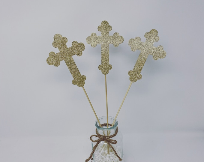 Baptism Centerpieces-Baptism Decor-First Communion Centerpieces-Christening Centerpieces-Baptism Cross Centerpieces-Mi Bautizo Centerpieces