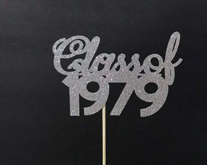 Class Reunion 1979, Class of 1979, Class Reunion Centerpiece , Class Reunion Decoration, Class Anniversary, Prom, School, University