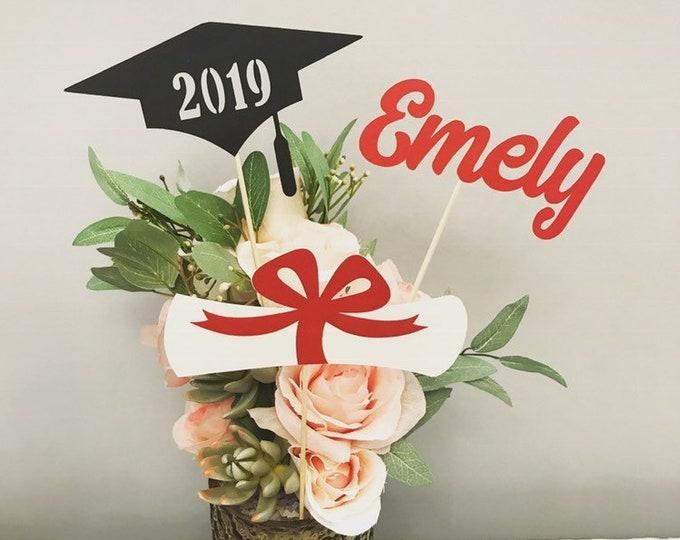 Graduation party decorations 2021, Graduation Centerpiece Sticks, Grad ,Cap ,Diploma, class of 2021, Graduation Decoration, prom 2021