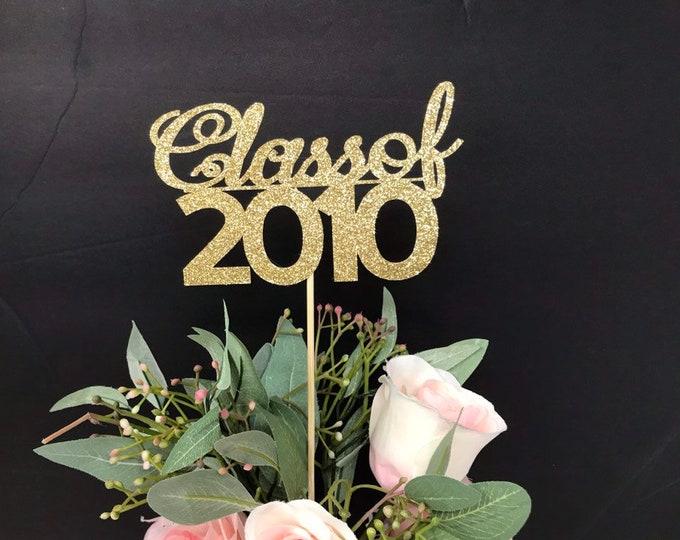 Class Reunion 2010, Class of 2010, 10th Class Reunion Centerpiece , Class Reunion Decoration, Class Anniversary, Prom, School, University