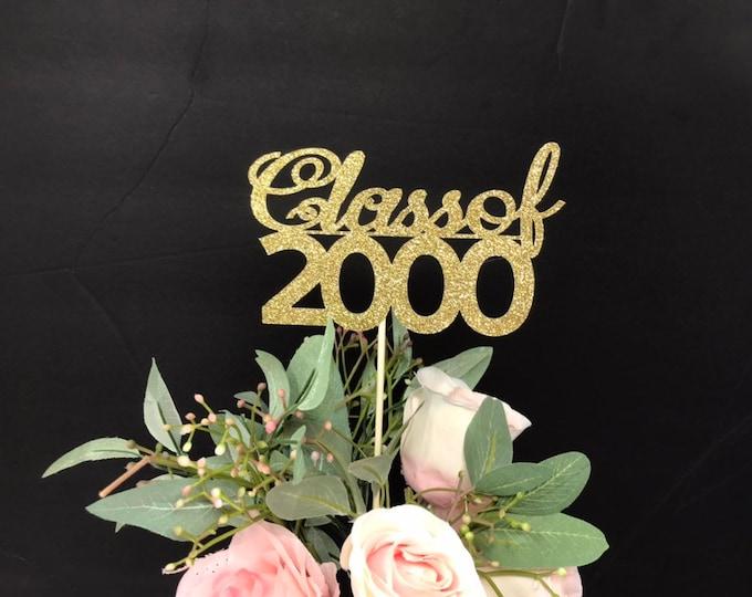 Class Reunion 2000, Class of 2000, 20th Class Reunion Centerpiece , Class Reunion Decoration, Class Anniversary, Prom, School, University