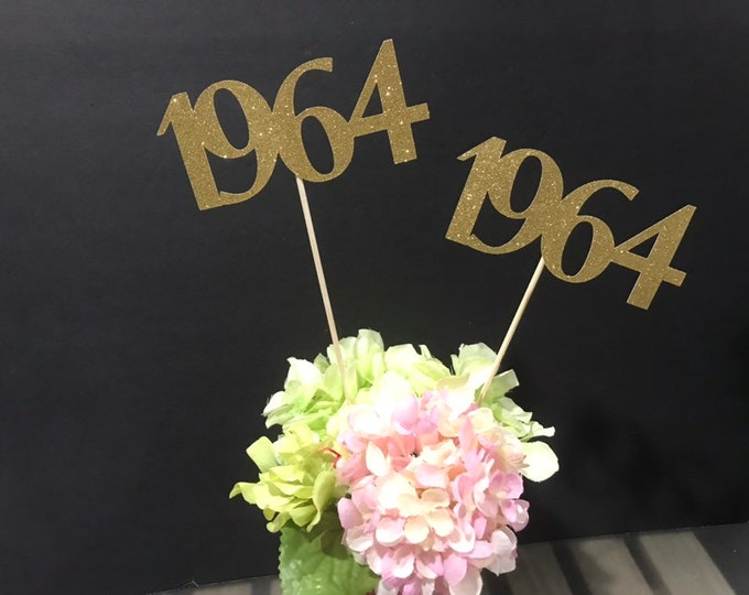 Class of 1964 Centerpiece Decoration, 55th Class Reunion Centerpiece Stick, Class of '64 Memorabilia Table Decoration, 55th Reunion