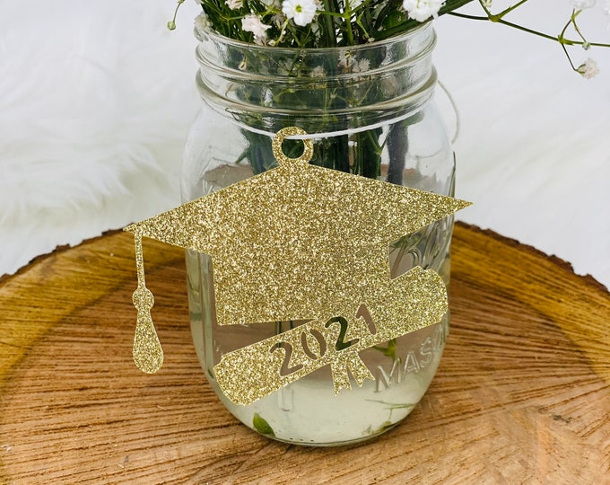 2021 tags, 2021 cut out, Graduation party decorations 2021, Graduation Cut outs, 2021 Mason jar tags , class of 2021, Graduation Decoration