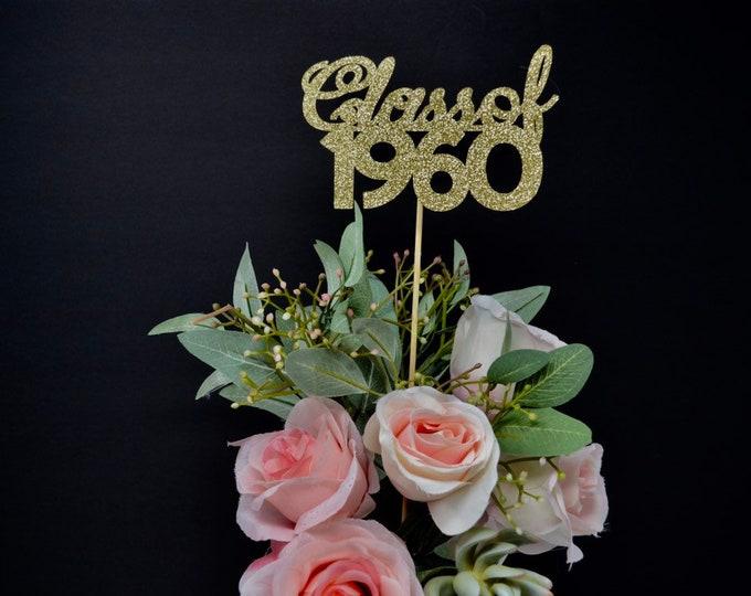 Class Reunion 1960, Class of 1960, Class Reunion Centerpiece , Class Reunion Decoration, Class Anniversary, Prom, School, University