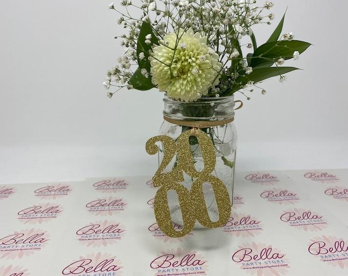 2000 Mason Jar Tags, Class Reunion 2000, Class Reunion Centerpiece, Class of 2000 Decoration, Class Anniversary, Prom, School, University