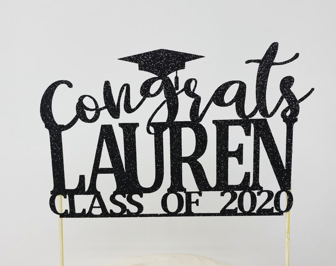 Graduation party decorations 2021, Graduation Cake Topper, Personalized Graduation cake topper, Graduation Party decor 2021, Congrats Grad