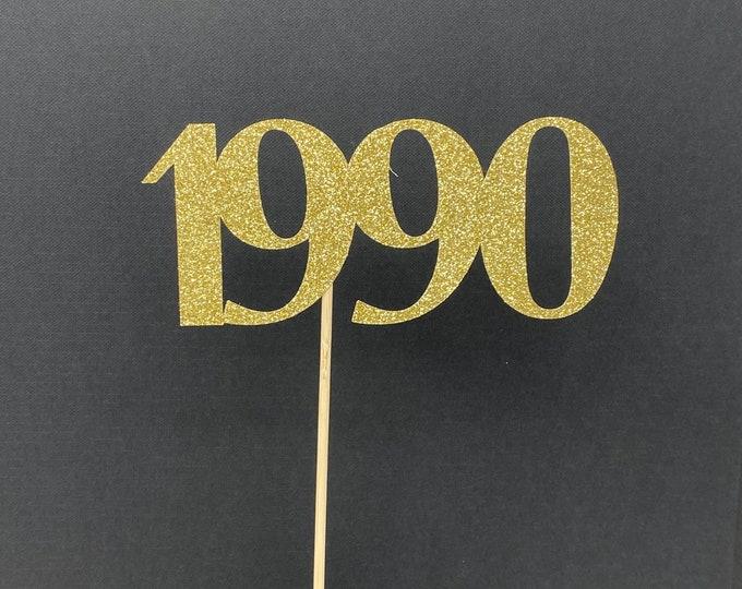 Class of 1990 Centerpiece Decoration, 30th Class Reunion Centerpiece Stick, Class of '90 Memorabilia Table Decoration, 30th Reunion