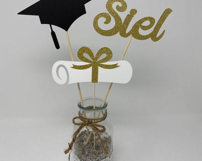 Graduation party decorations 2020, Graduation Centerpiece Sticks, Grad ,Cap ,Diploma , class of 2020, Graduation Decoration, prom 2020