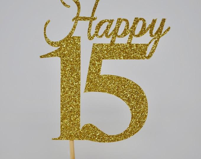 15th Birthday Decorations, 15th Birthday Centerpiece Sticks,Personalized 15th Birthday, Age Centerpiece,  XV Anniversary stick