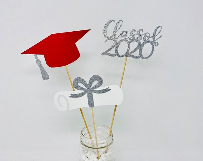 Graduation party decorations 2020, Graduation Centerpiece Sticks 2020, graduation hat diploma 2020, class of 2020,Graduation Decoration 2020