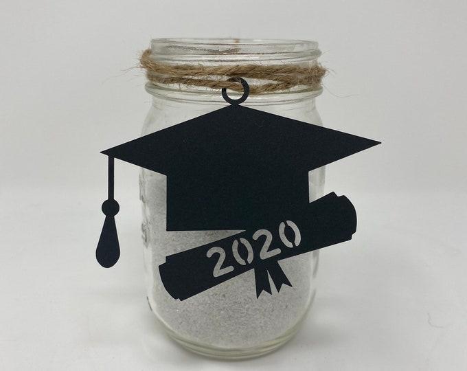 2020 tags, 2020 cut out, Graduation party decorations 2020, Graduation Cut outs, 2020 Mason jar tags , class of 2020, Graduation Decoration