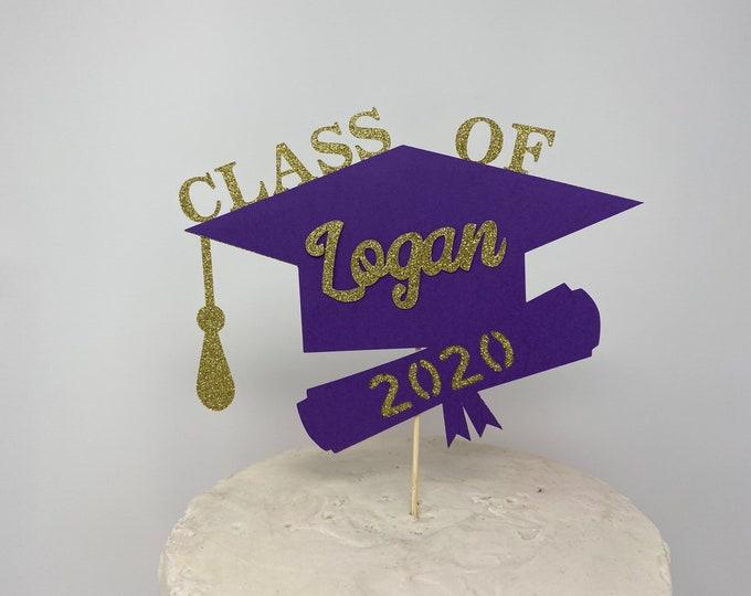 Graduation party decorations 2020, Graduation Cake Topper, Personalized Graduation cake topper, Graduation Party decor 2020, Congrats Grad