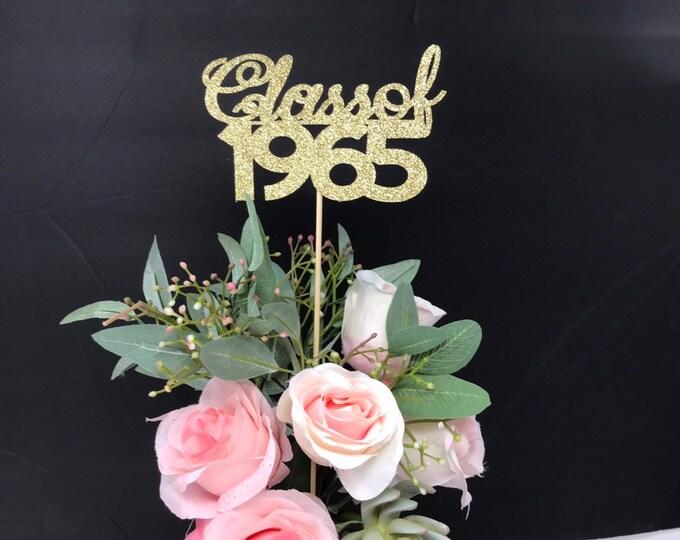 Class Reunion 1965, Class of 1965, Class Reunion Centerpiece , Class Reunion Decoration, Class Anniversary, Prom, School, University