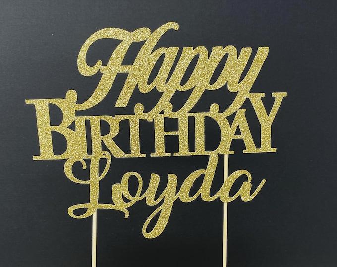 Birthday Cake Topper, Custom Birthday Decorations, Name Birthday Cake Topper, Custom Birthday Cake Topper, Personalized Cake Topper