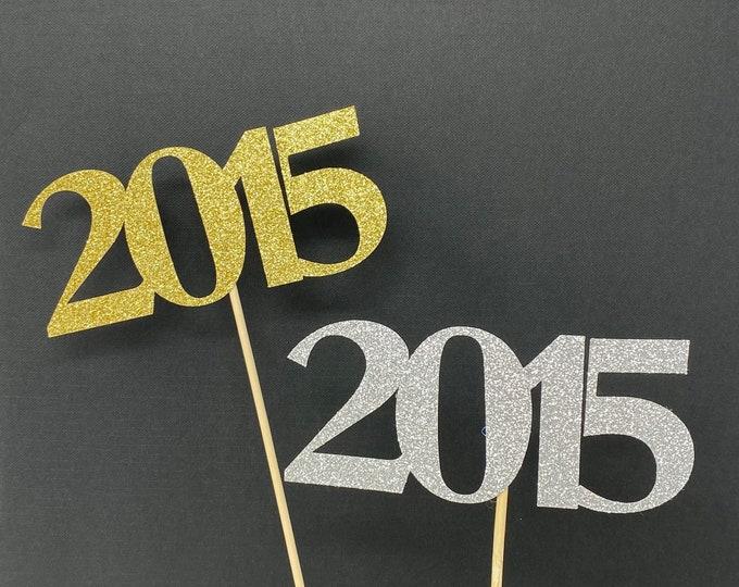 Class of 2015 Centerpiece Decoration, 5th Class Reunion Centerpiece Stick, Class of '15 Memorabilia Table Decoration, 5th Reunion