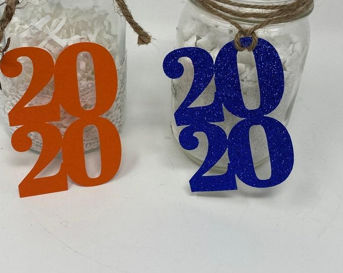 Graduation decorations 2020, class of 2020, Graduation Centerpiece, Graduation Mason Jar Tags, Graduation Table Decorations, 2020 cut out