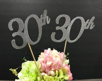 30th Birthday Decoration Centerpiece Sticks Glitter Decoration30th