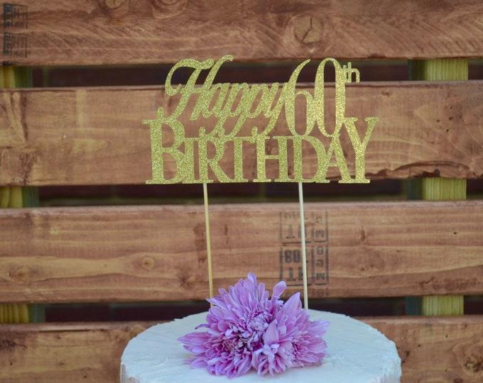 Birthday Cake Topper, Custom Birthday Decorations, Name Birthday Cake Topper, Custom Birthday Cake Topper, Personalized Cake Topper,