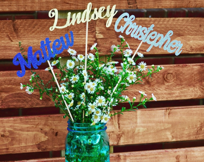Personalized Name, Name Sticks, Personalized Name Centerpiece Sticks, Party Decorations, Customized Name