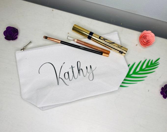 Bridesmaid Cosmetic Bags, Bridesmaid Gifts, Maid of Honor Makeup Bags, Bridesmaid Gift Box, Personalized, Toiletry Bags, bridesmaids