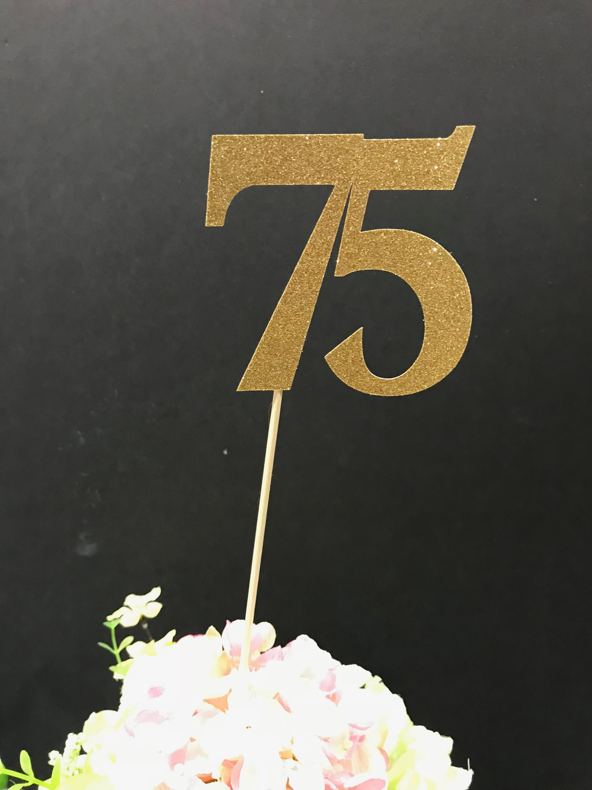 75th Birthday Party Decorations Centerpiece Sticks Glitter Table Age Sticks75th