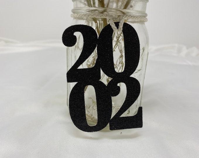 2002 Mason Jar Tags, Class Reunion 2002, Class Reunion Centerpiece, Class of 2002 Decoration, Class Anniversary, Prom, School, University