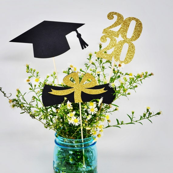 2020 Graduation Party Supplies.Graduation Party Decorations 2020 Graduation Centerpiece Sticks Grad Cap Diploma Class Of 2020 Graduation Decoration Prom 2020
