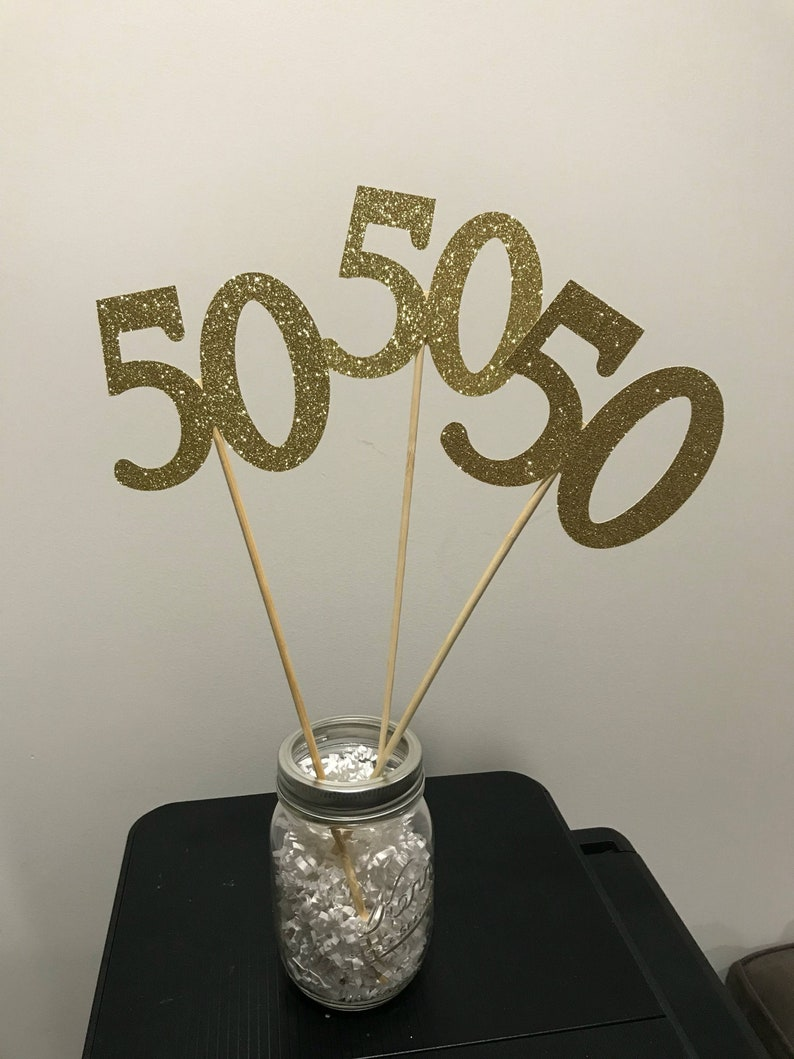 50th Birthday Party Decorations Centerpiece