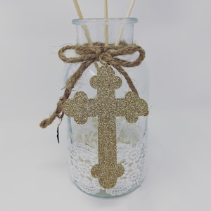 Rustic Mason Jar Centerpieces Baptism Decorations Boy Baptism Etsy