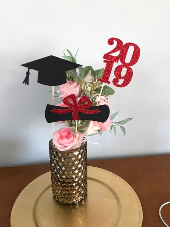 Bu Graduation 2020.Graduation Party Decorations 2020 Graduation Centerpiece Sticks Grad Cap Diploma Class Of 2020 Graduation Decoration Ideas Prom 2020