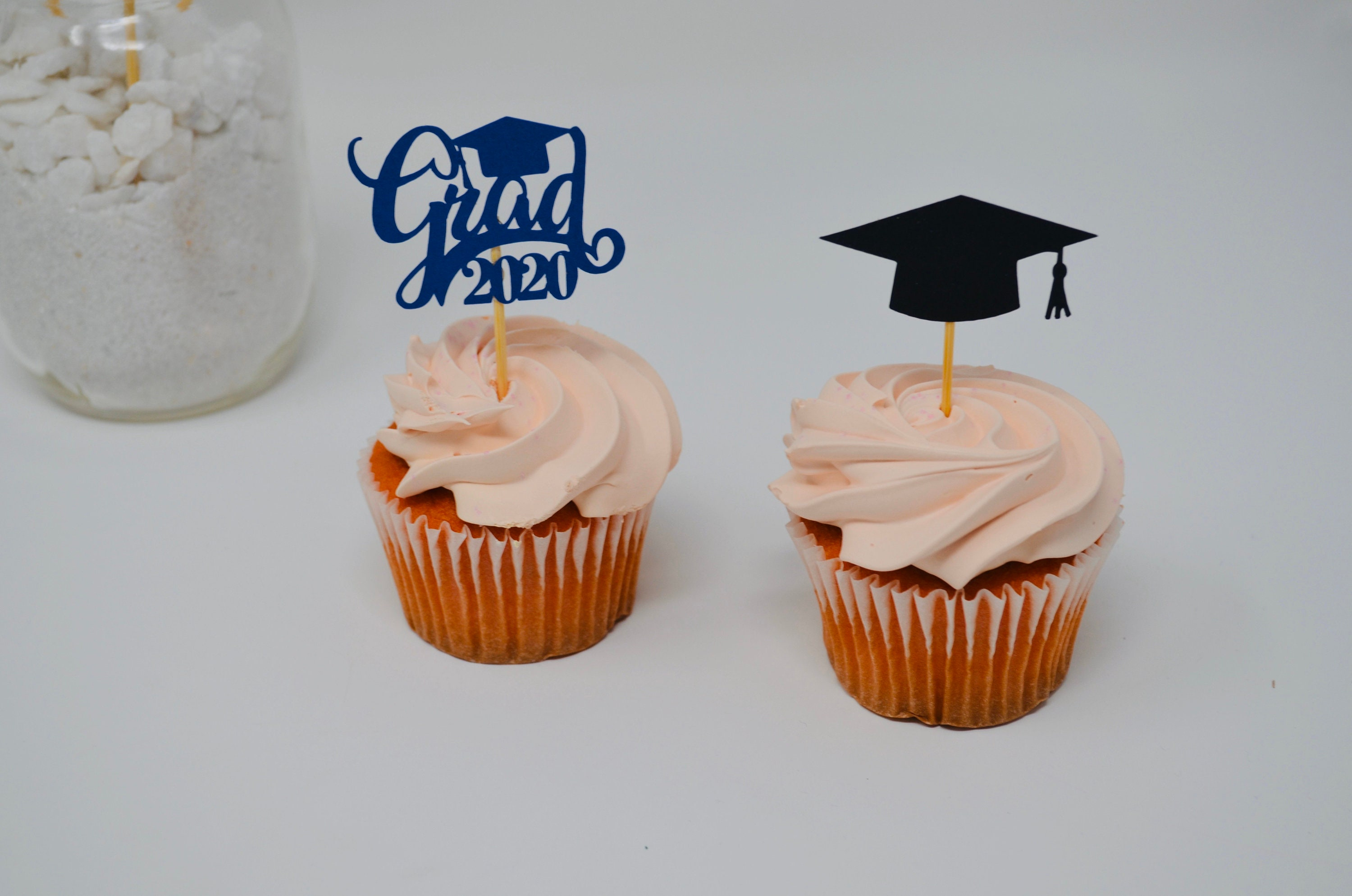 Grad Cupcake Toppers Personalized Graduation Set of 12 Graduation Party Grad Party Decor Graduation Cupcake Toppers