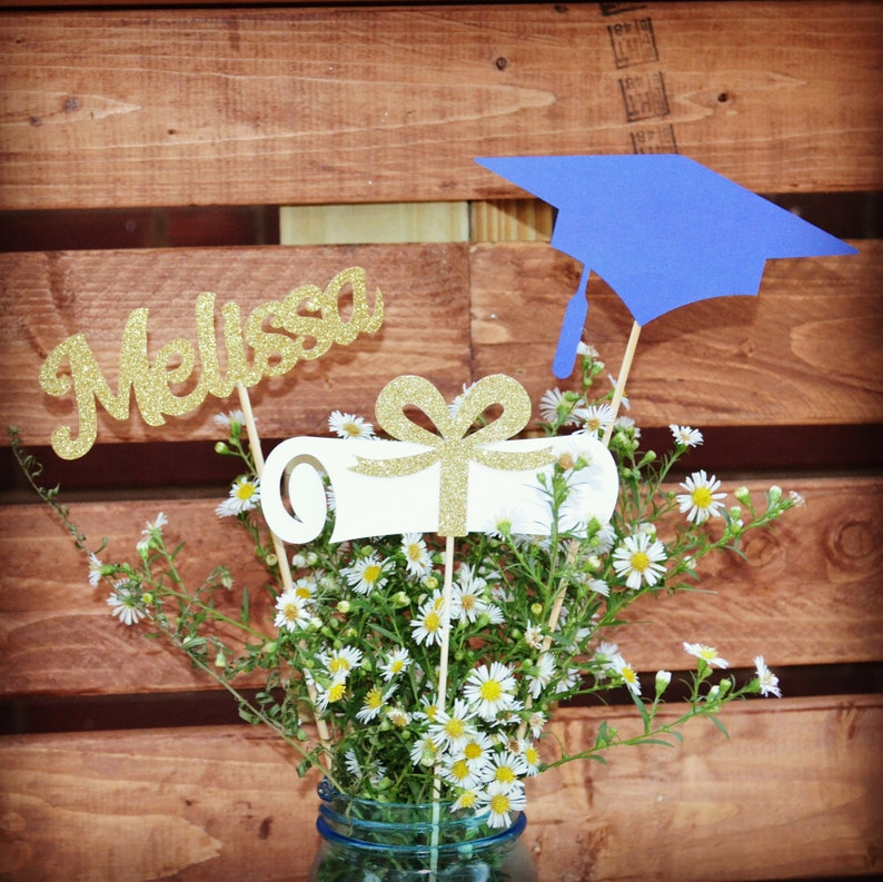 Graduation party decorations 2021 Graduation Centerpiece ...
