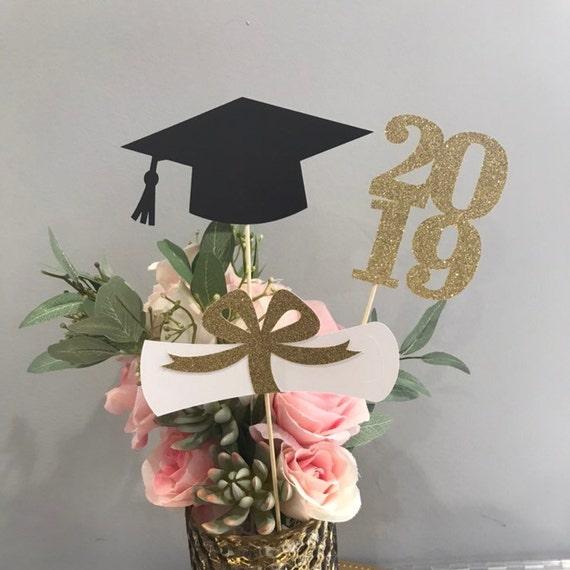 Graduation party decorations 2019, Graduation Centerpiece Sticks, Grad ,Cap  ,Diploma , class of 2019, Graduation Decoration ideas, prom 2019