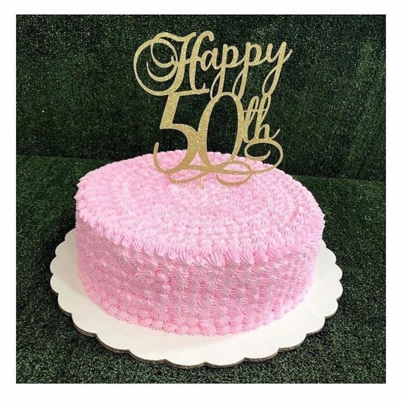 Happy 50th Birthday Cake Topper 30th 40th 60th 70th