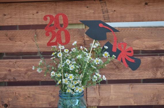 Bu Graduation 2020.Graduation Party Decorations 2020 Graduation Centerpiece Sticks 2020 Class Of 2020 Red Graduation Party Decor Red 2020
